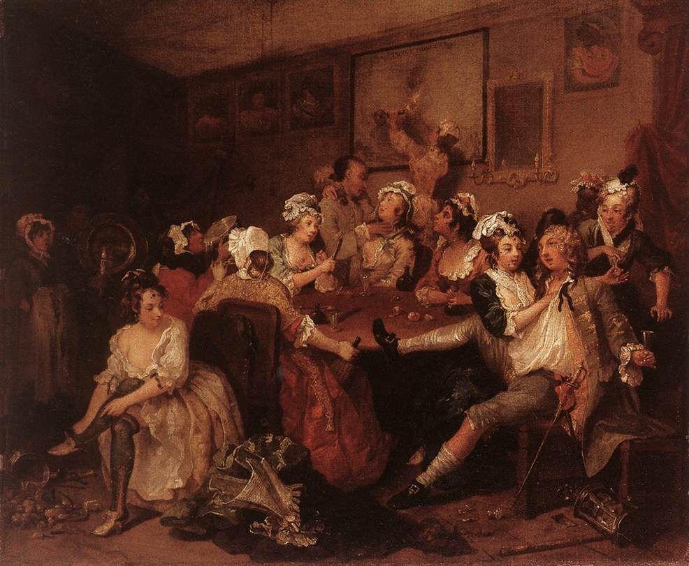 F28 La Taverna Della Rosa Hogarth 1734 Sir John Soane S Museum