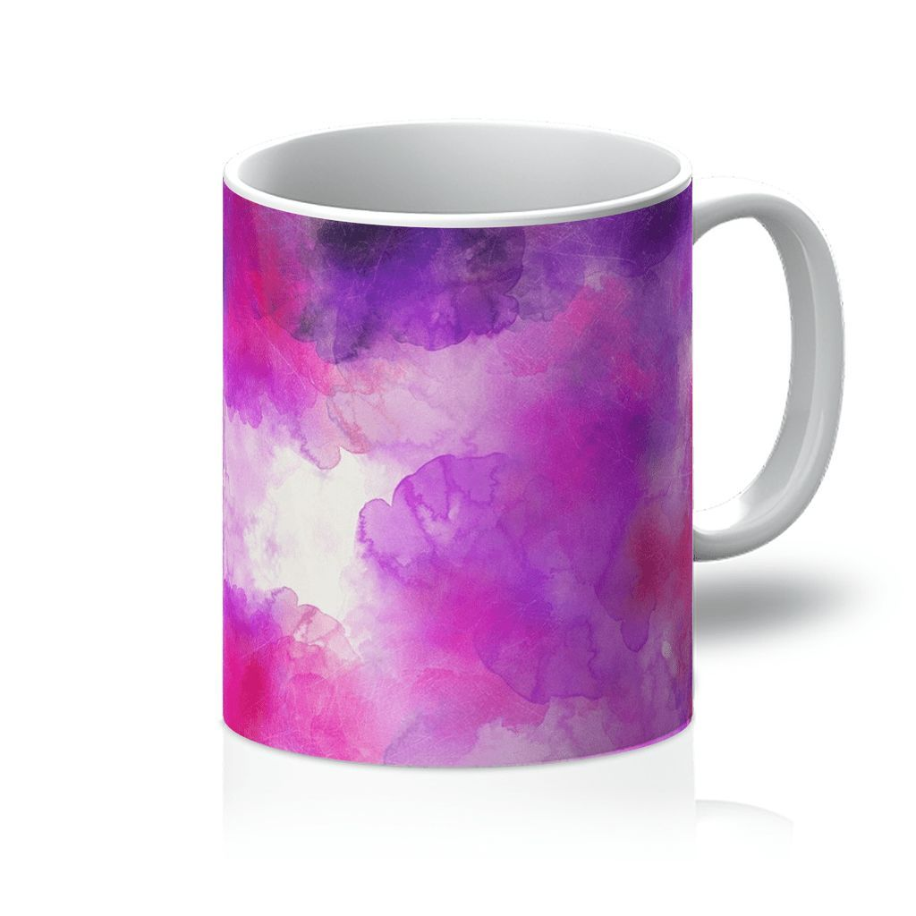 Purple and White Mug