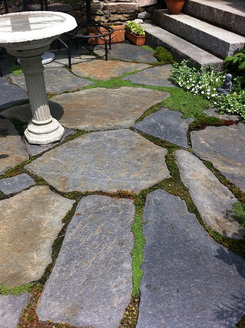 natural stone patio on Goshen Stone Patio In Peterborough Patio Stones Stone Patio Designs Fire Pit Landscaping