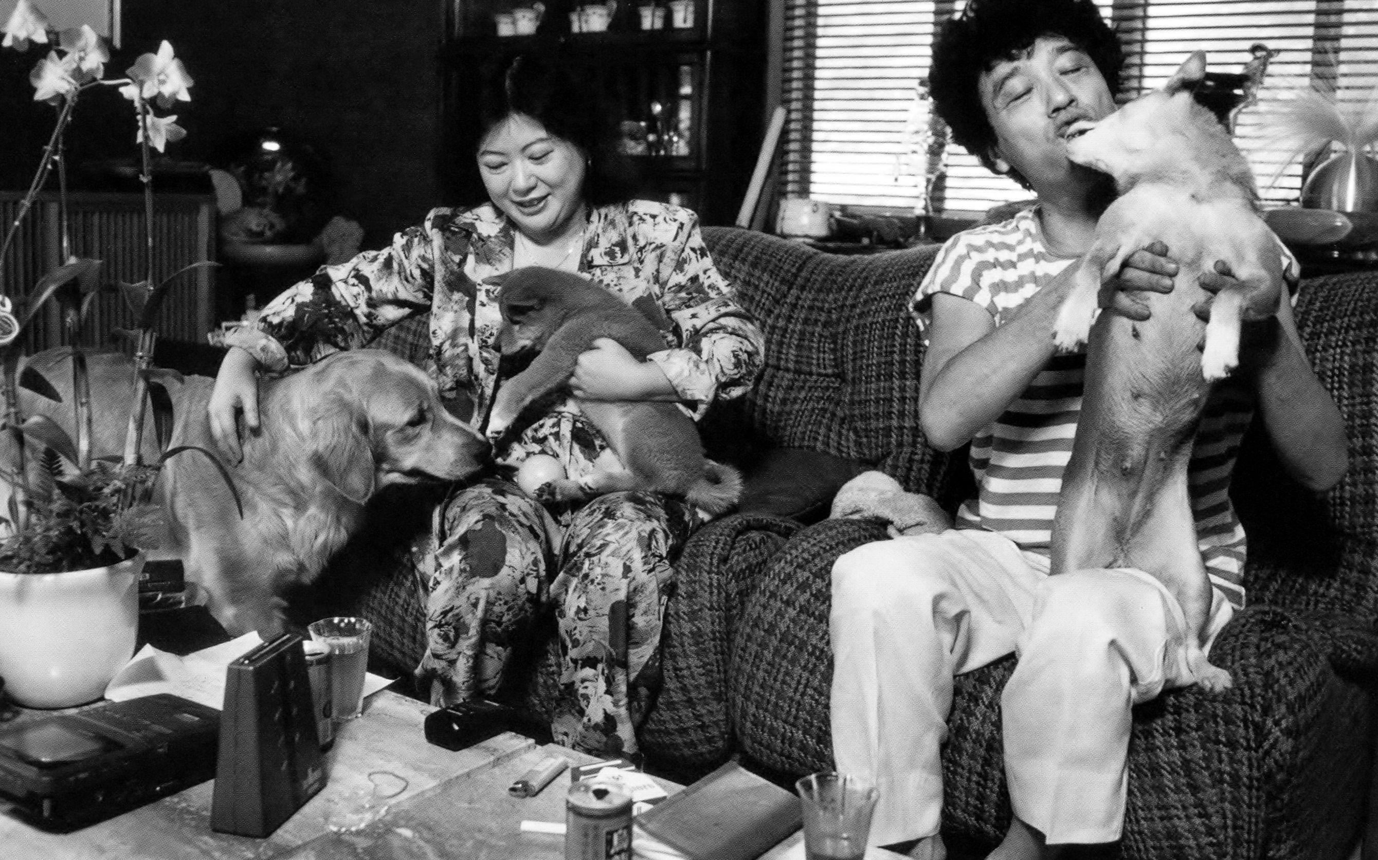 池田満寿夫、佐藤陽子。1989年熱海市の自宅にて。斎藤康一写真集「昭和 ...