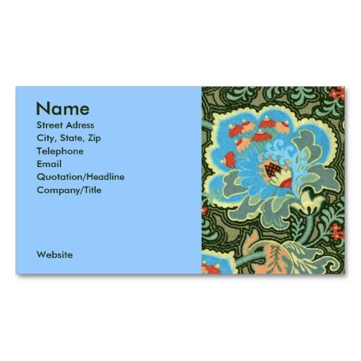 sold 2 boxes of Turquoise Paisley Business Cards