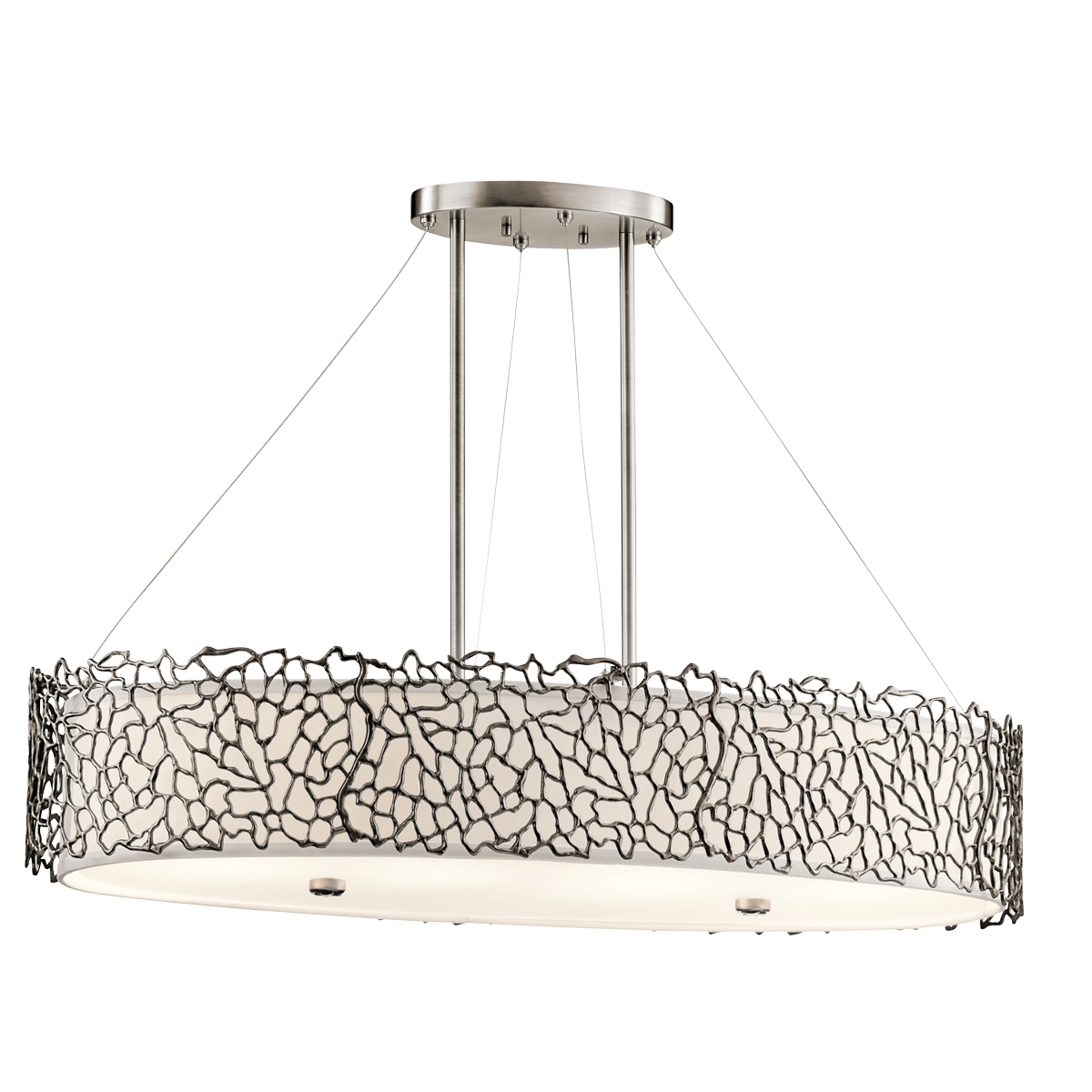 chandelier by serip metal hall chandeliers form ceiling transitional bijout contemporary dering lighting organic collective oval glass