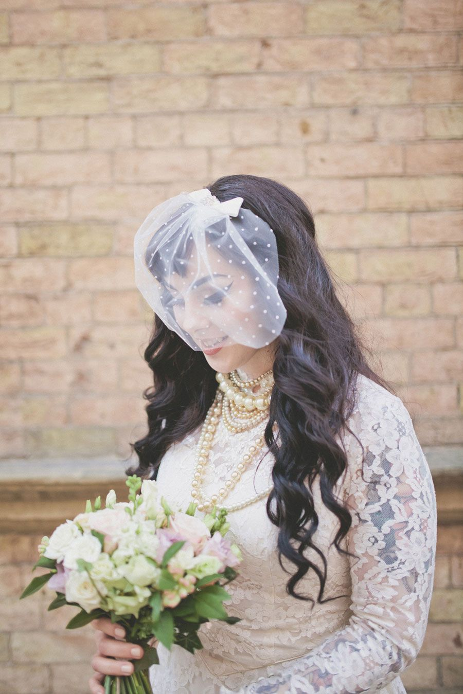 eclectic vintage wedding in york with 50s style bride: jemma