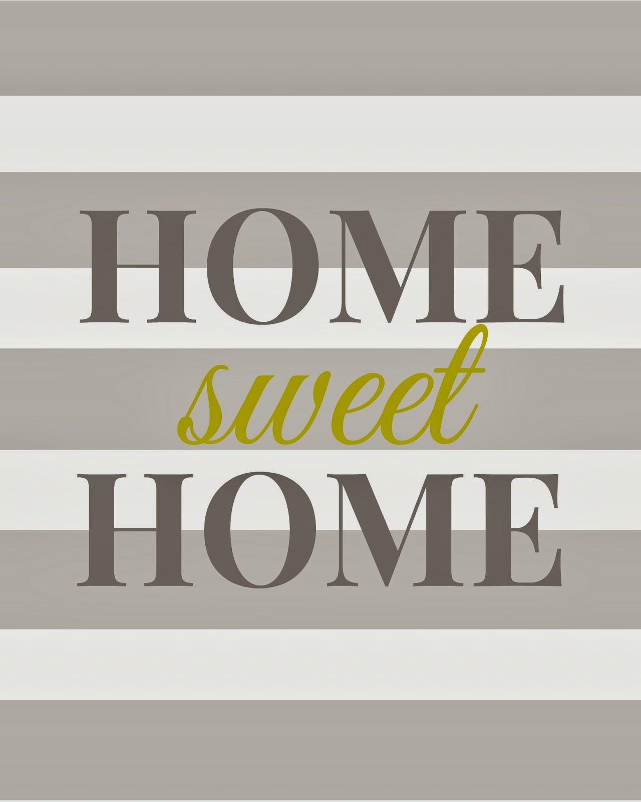 Home Sweet Home Free Printable Decoracao Quarto Quadros