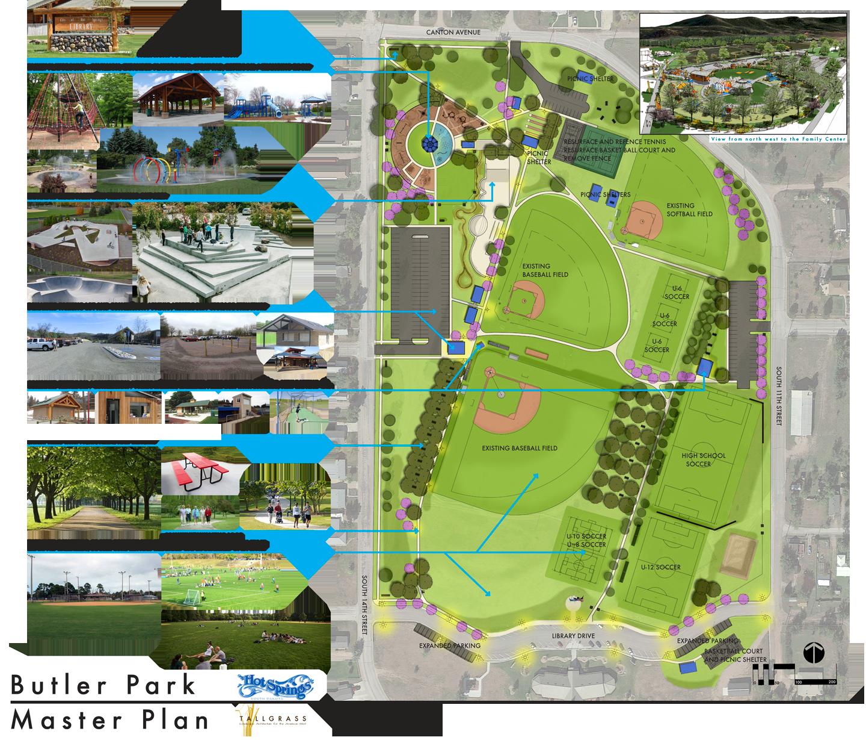 Butler Park Master Plan By Tallgrass Landscape Architects Landscape Architect Master Plan How To Plan