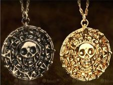 Disney Prop Pirates of the Caribbean Cursed Aztec Gold Coin Medallion Necklace