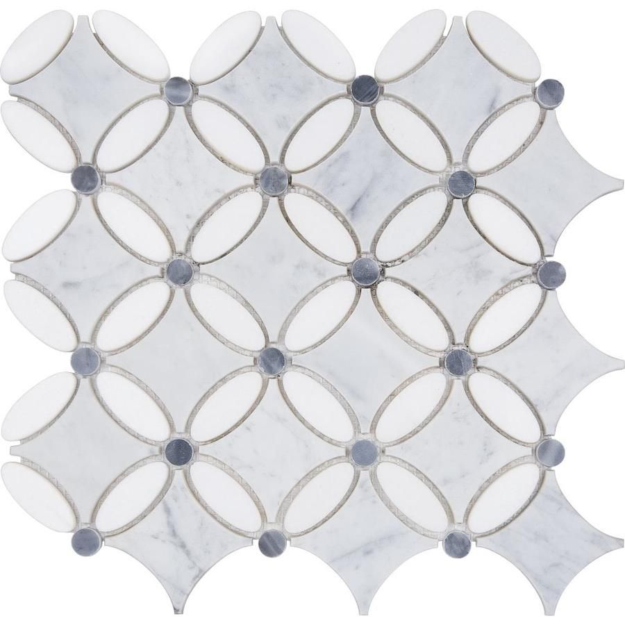 Anatolia Tile Flower Mosaic Marble Floor And Wall