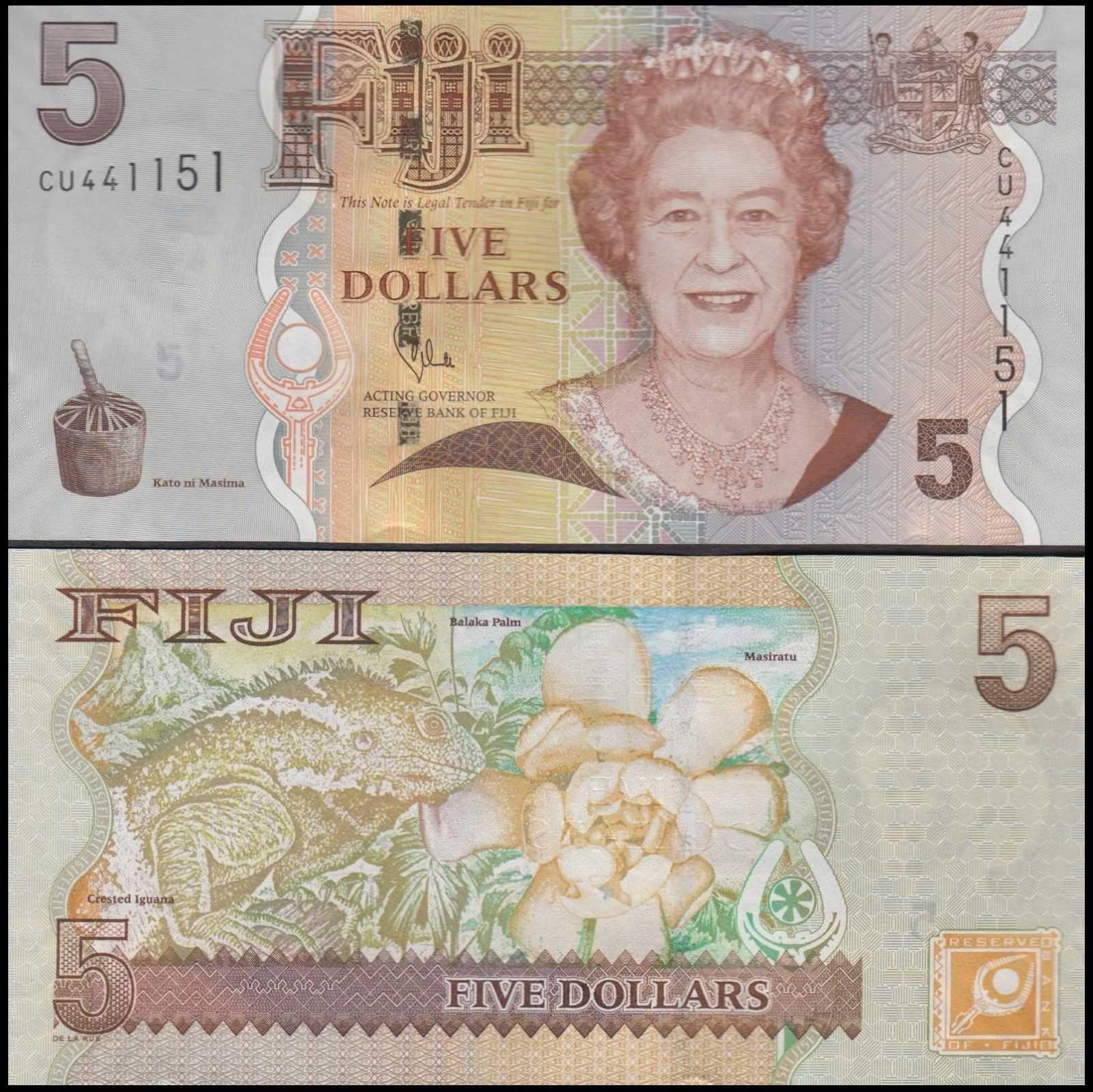 Fiji 5 Dollars 110b Com Imagens