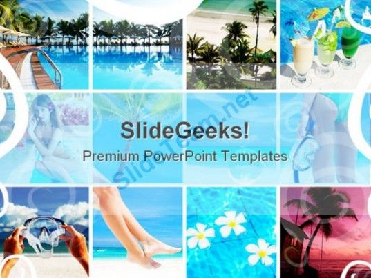 Resort Collage Nature Powerpoint Templates And Powerpoint