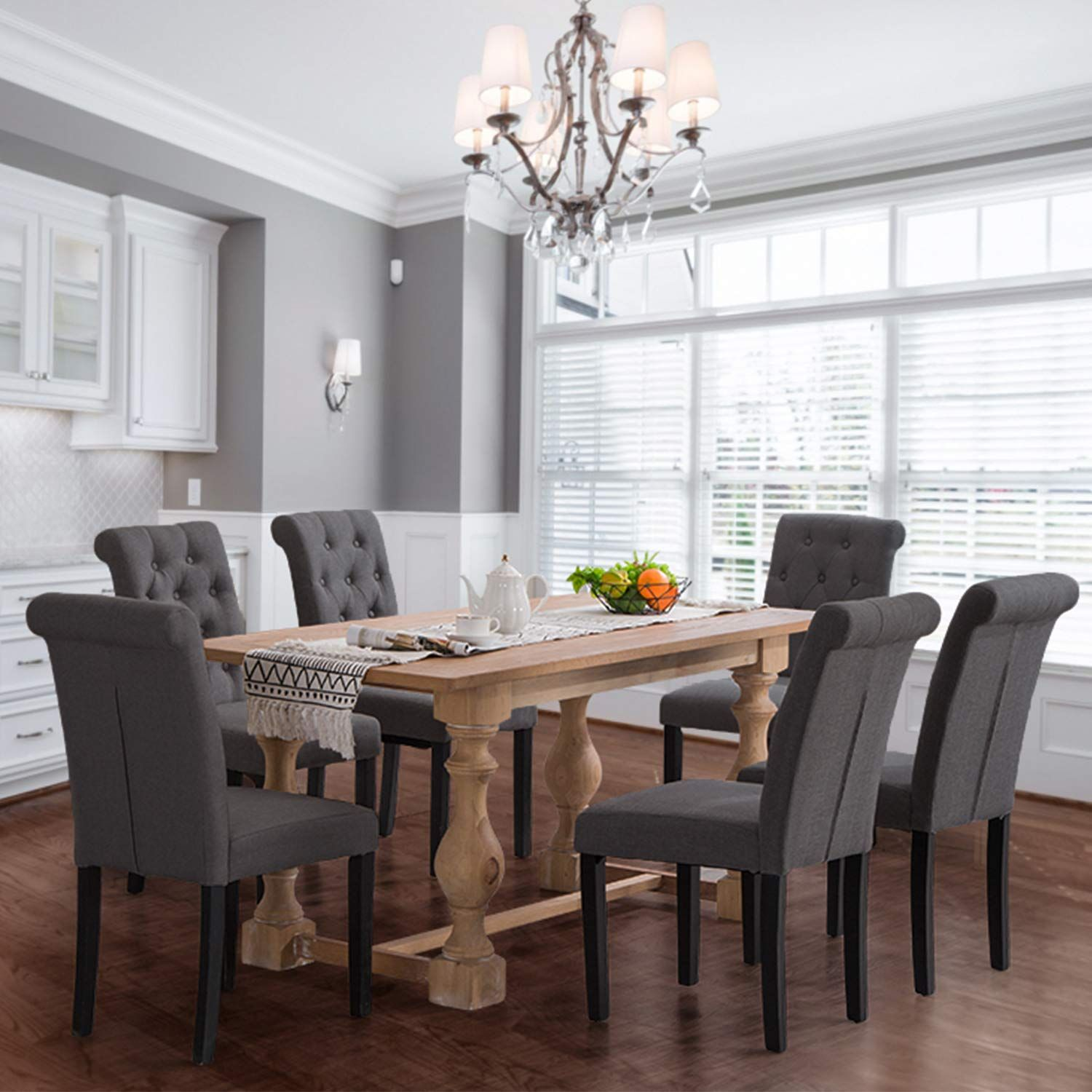 25 Elegant And Exquisite Gray Dining Room Ideas: Homy Grigio Aristocratic Style Dining Chair Noble And
