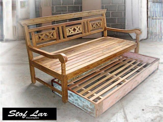 Sofa Bali Com Bicama Sofa De Madeira Rustico Ideias Para