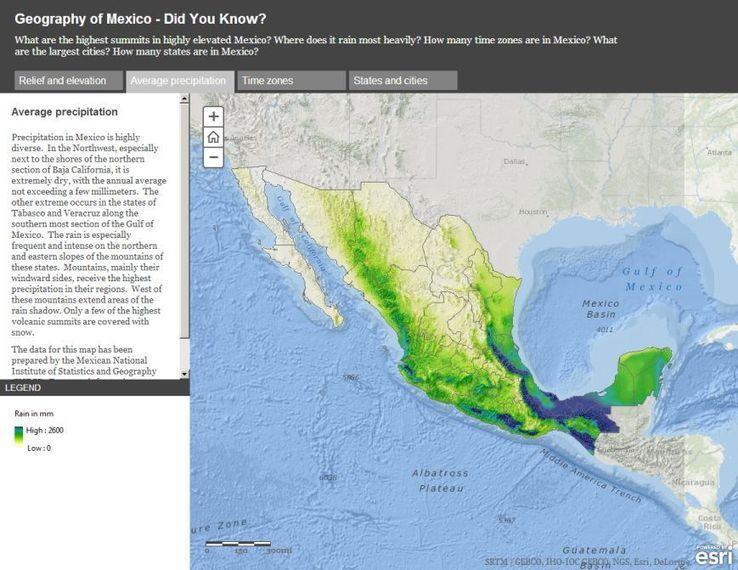 Exploring Mexico through Dynamic Web Maps | Fabulous Maps | Map geo ...