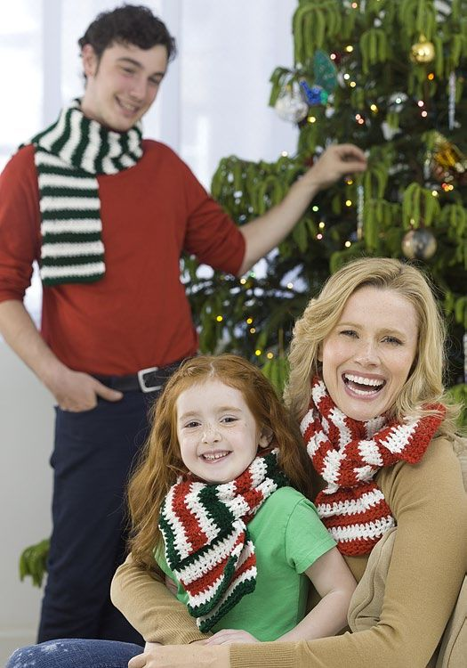 Holiday Scarves Trio Scarves Knitting Patterns Free And Crochet