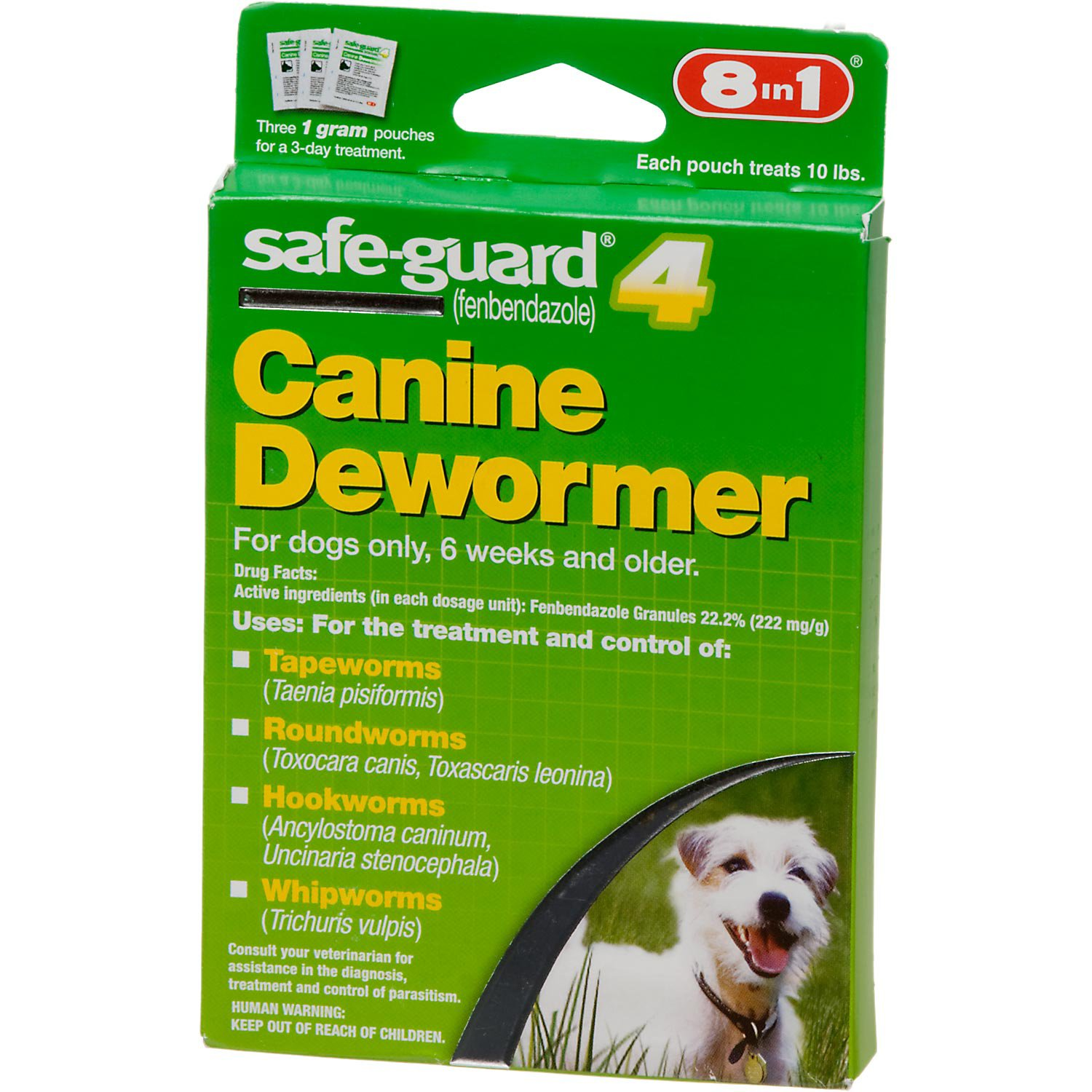 8 In 1 Safe Guard 4 Canine Dewormer For Small Dogs Worms In Dogs