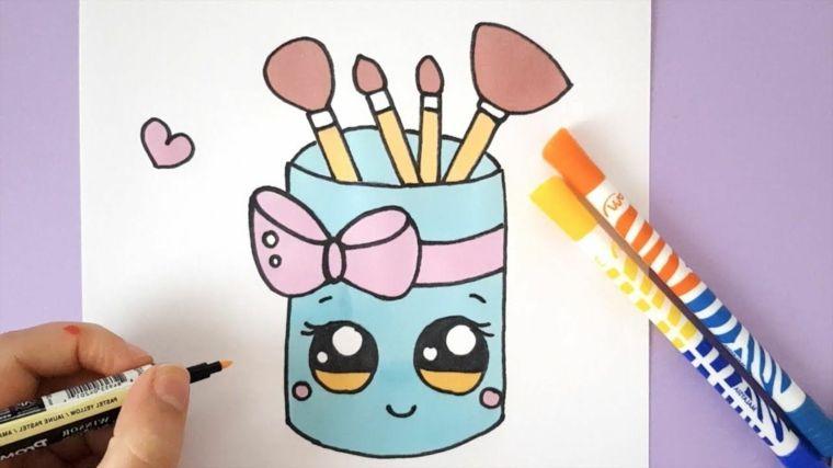 Pennarelli Colorati Per Disegno Disegno Di Un Contenitore Disegni Kawaii Disegni Kawaii Kawaii Disegno Di Occhi