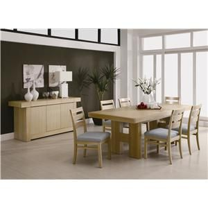 The Contemporary Style Dining Table Features A Beautiful Veneer Enchanting Dining Room Table With Pull Out Leaves Design Inspiration
