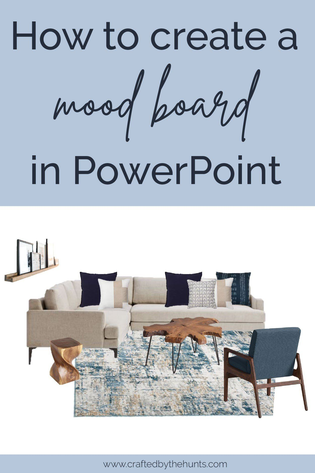 How to Create a Mood Board in PowerPoint   Crafted by the Hunts ...