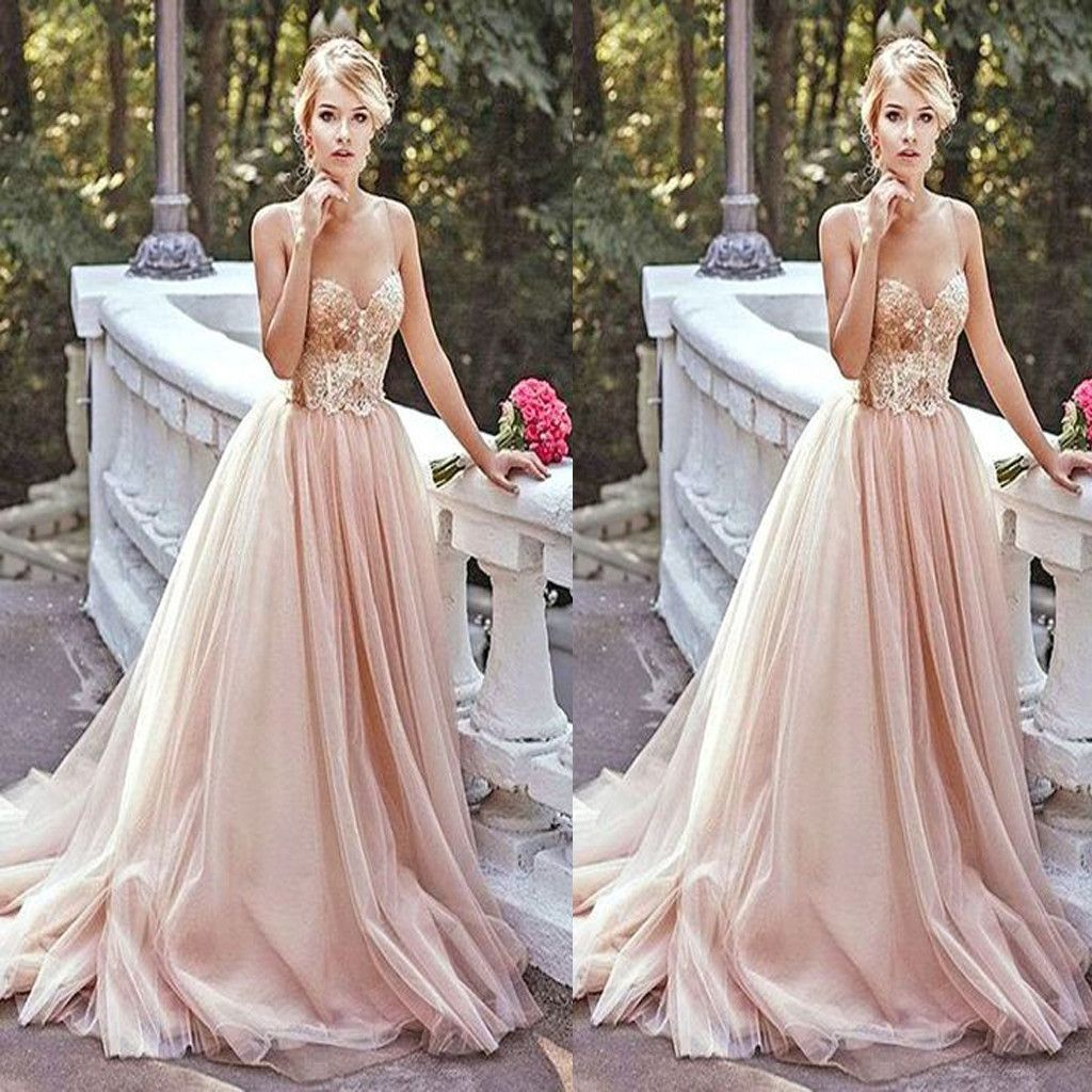 Long Sparkly Vintage Ball Gown With Straps Sweetheart Evening Gowns ...