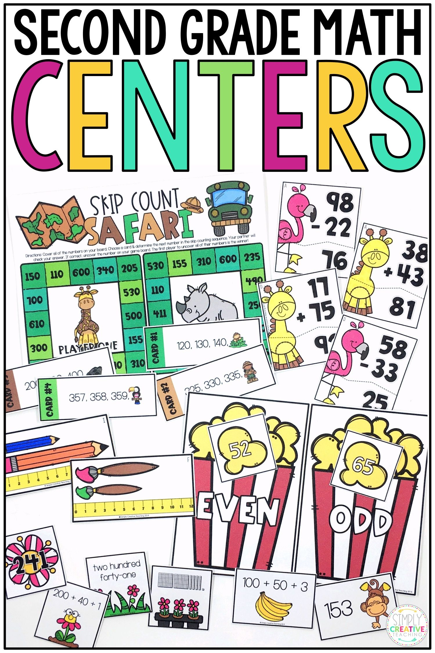 2nd Grade Math Centers For Common Core With Images