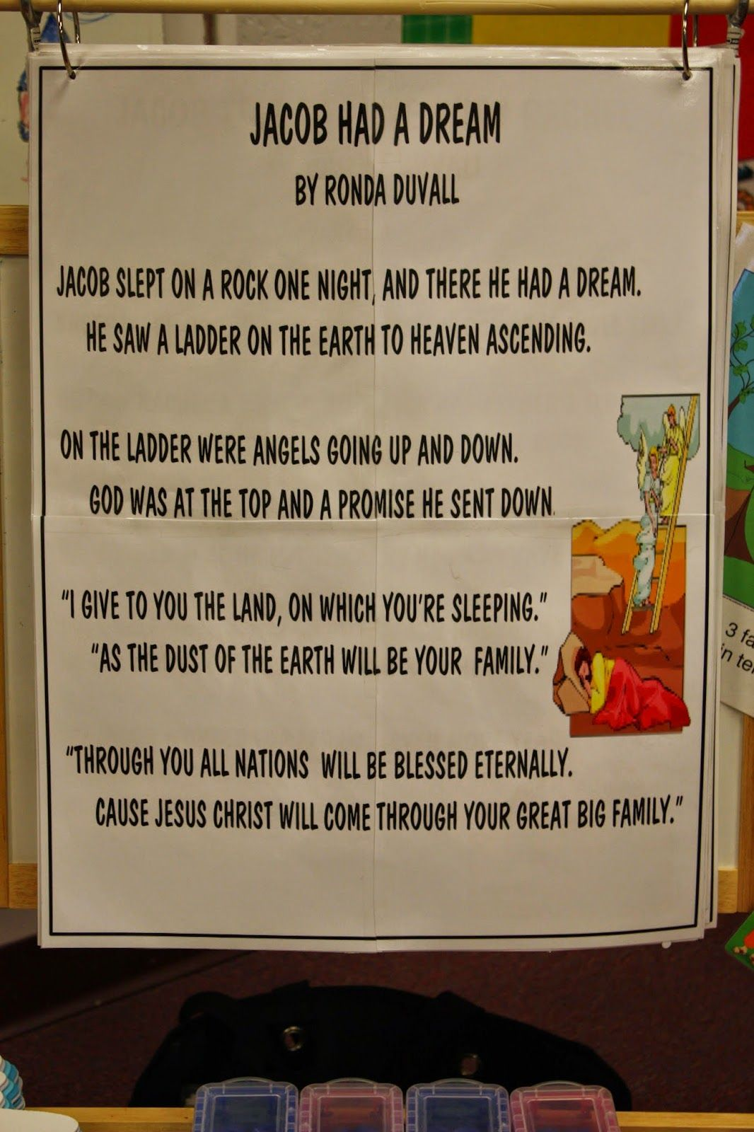 Jacob Dreams Of A Ladder Bible lessons for kids, Bible