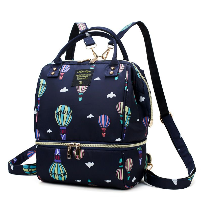 Baby Diaper Nappy Mummy Changing bag Backpack Set Multi-Function Hospital Bag