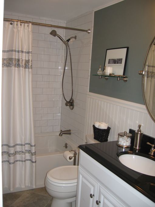 Bathroom on a budget, Small bathroom in a small condo, Bathrooms