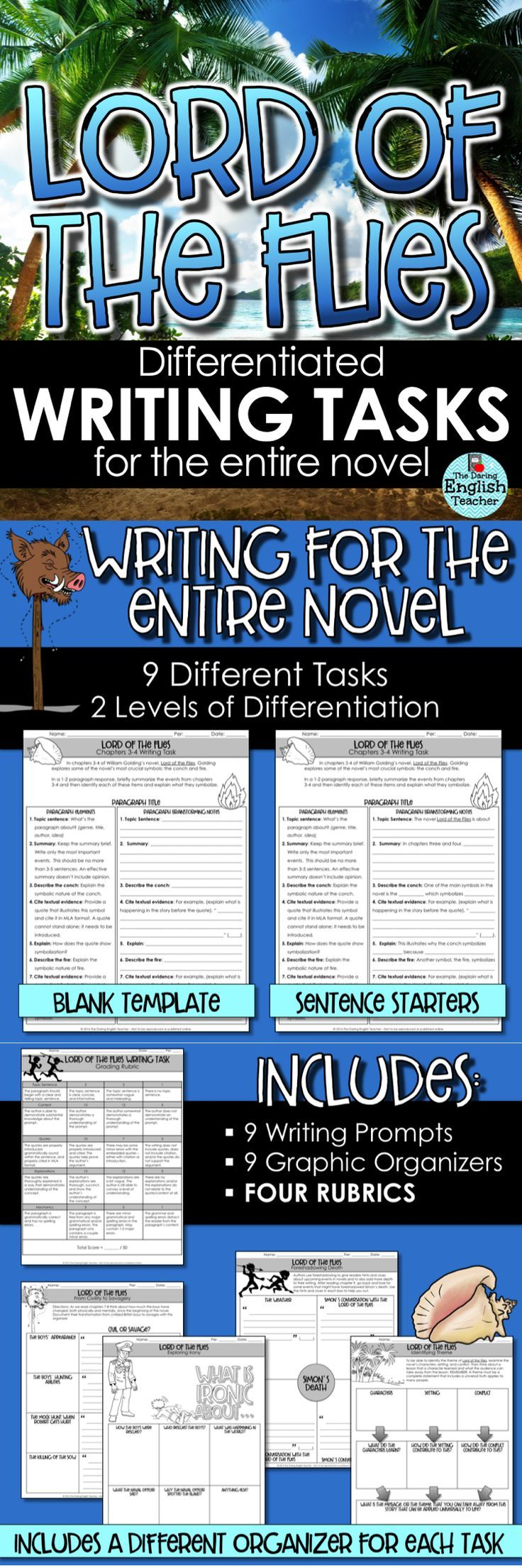 lord of the flies writing tasks for the entire novel literature lord of the flies writing prompts and tasks for the entire novel this differentiated writing tasks is a teaching unit in itself and includes
