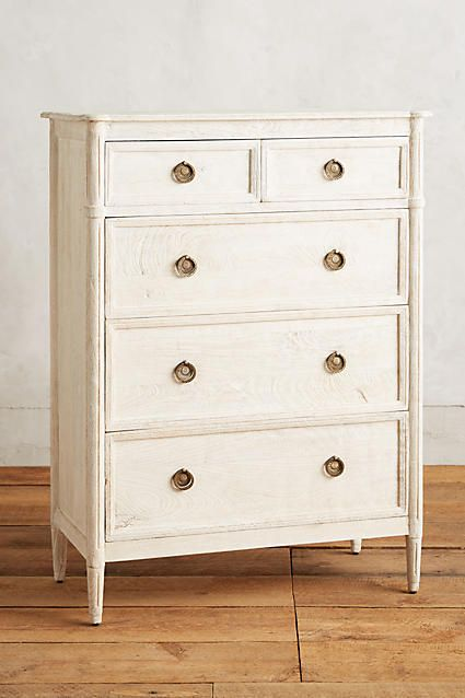 Extra 40 Off Salewashed Wood Five Drawer Dresser Anthropologie Com Dresser Drawers Vintage Inspired Bedroom Unique Dresser