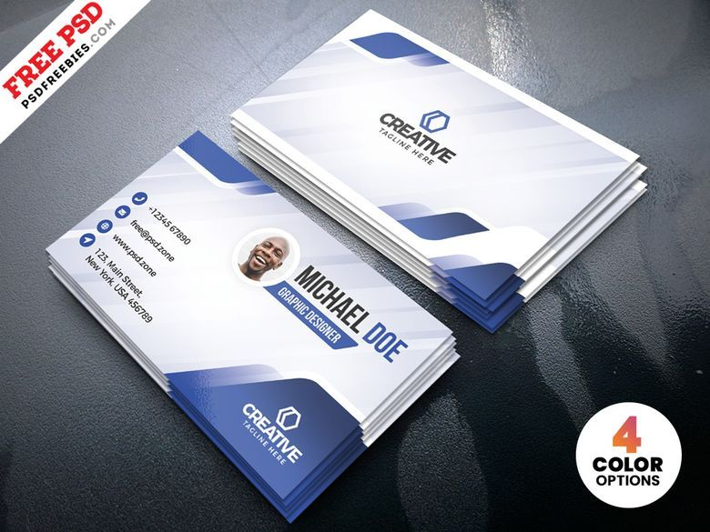 Creative Business Card Designs Free Psd Free Business Card Design Unique Business Cards Free Business Card Templates