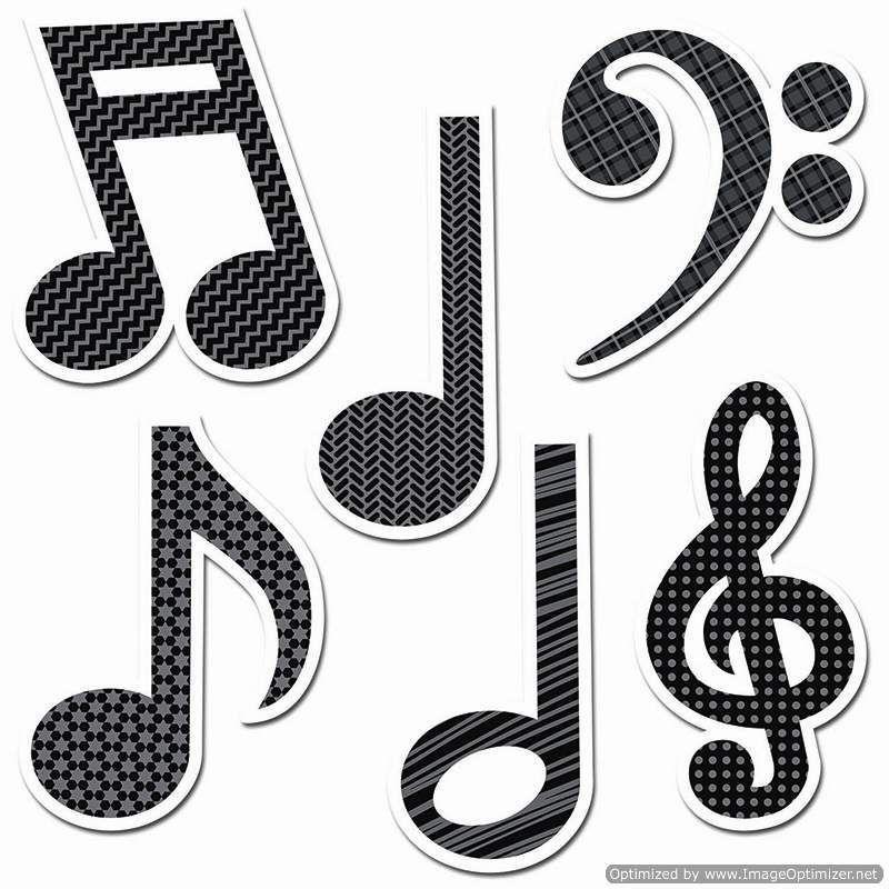 Music Symbols 6 Inch Designer Cut Outs Ctp4879 Includes Symbols
