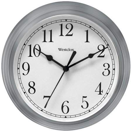 Westclox 14 in Gray Round Office Wall Clock