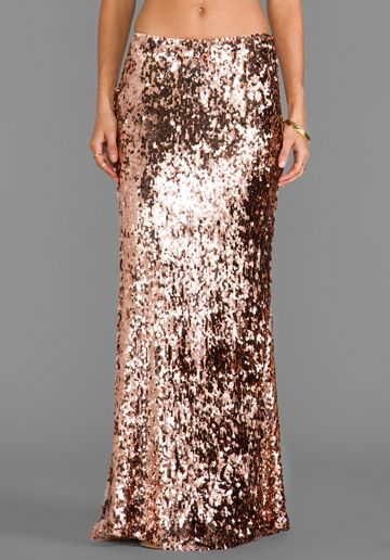 FREE PEOPLE Sequins for Miles Skirt in Rose Gold at Revolve ...