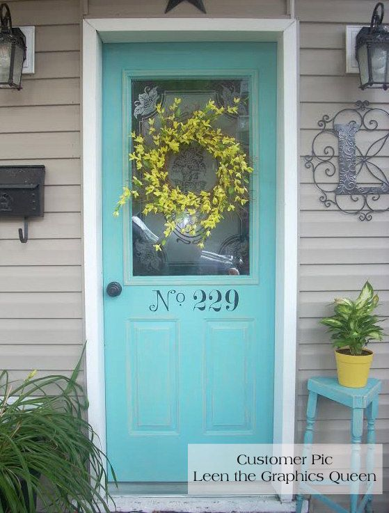 Front Door Street Number Decal • House Number Decals Increase Curb ...