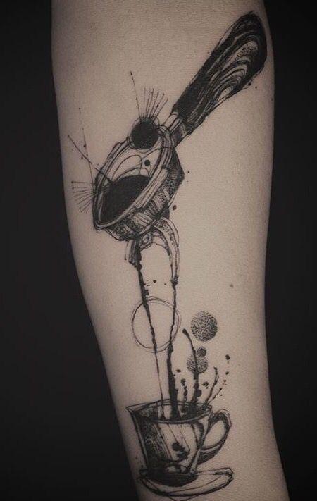 Espresso coffee by tattooer Nadi