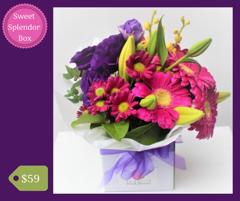 """Our """"Sweet Splendor Box"""" arrangement is ready to"""