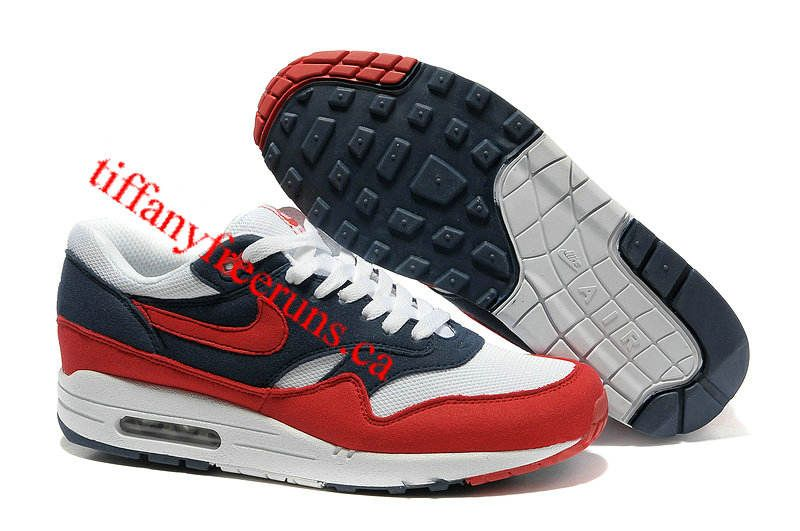 hot sale online 3a662 aefc3 ... authentic mens nike air max 1 midnight navy action red white neptune  blue shoes d1484 795fa