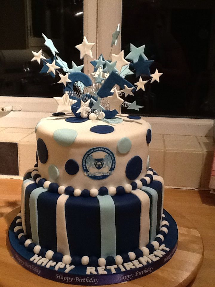 Peterborough United / retirement cake