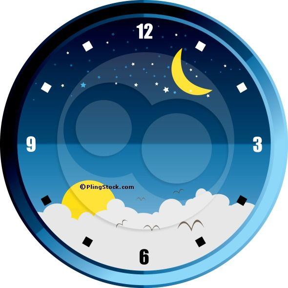 sun and moon clock art - Google Search