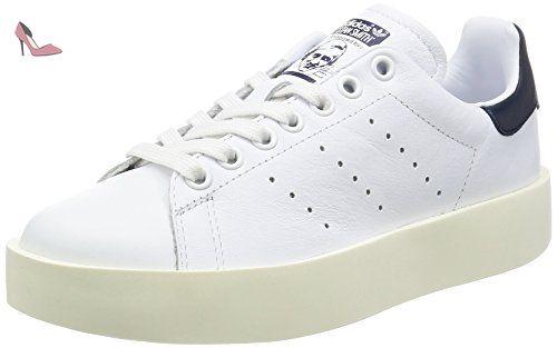 adidas Stan Smith, Baskets Femme, Blanc (Footwear White/Footwear White/Core Black), 39 1/3 EU