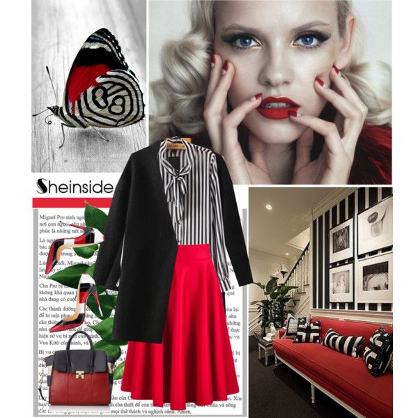 Sheinside by ruza-b-s on Polyvore featuring Christian Louboutin and Tommy Hilfiger