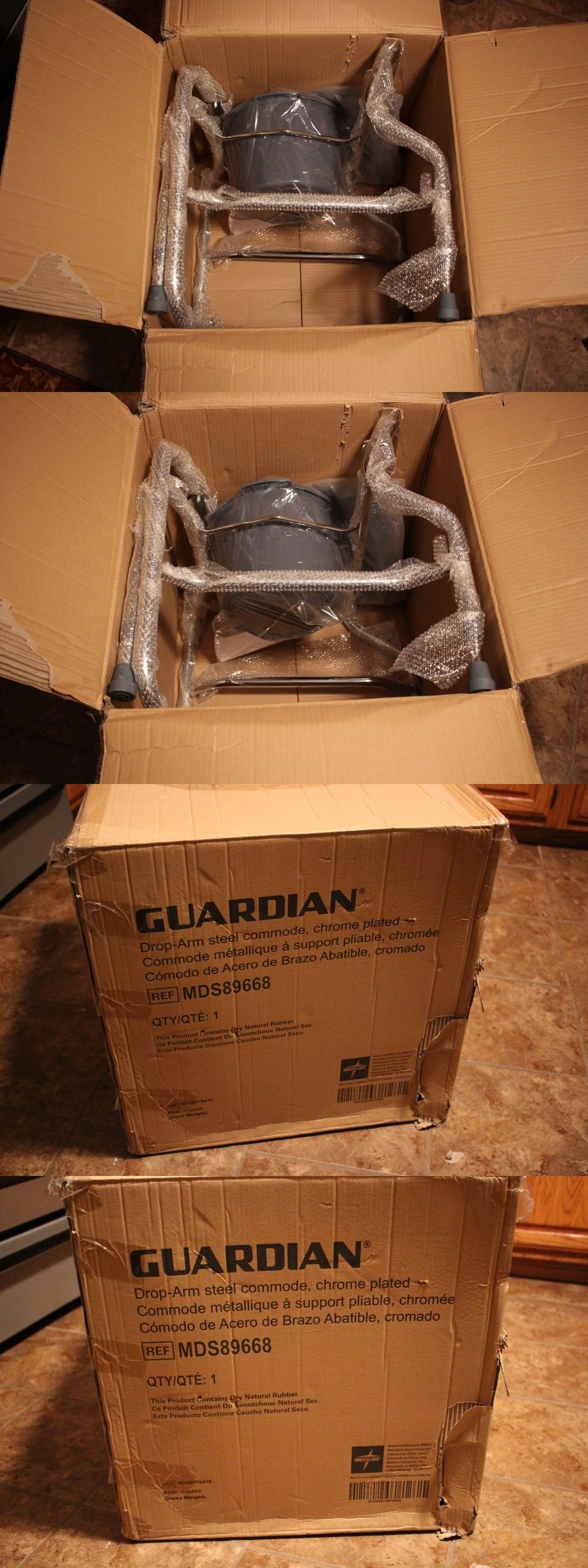 Toilet Frames and Commodes: Guardian Drop-Arm Steel Commode Chrome ...