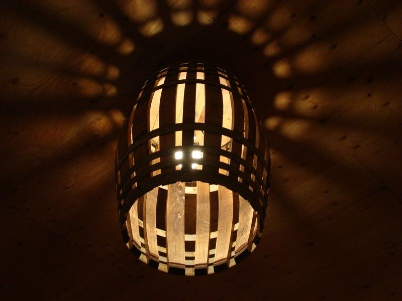 Recycled Wine Barrel Lighting Fixture