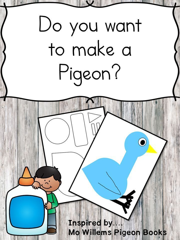 Do you want to make a Pigeon? Pigeon Craft for Pigeon Books | Pinterest