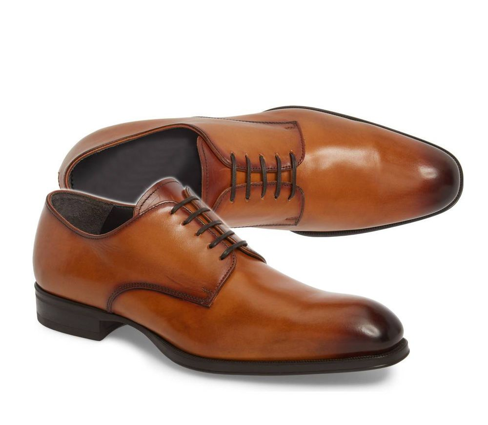 Handmade Derby Brown Leather Shoes