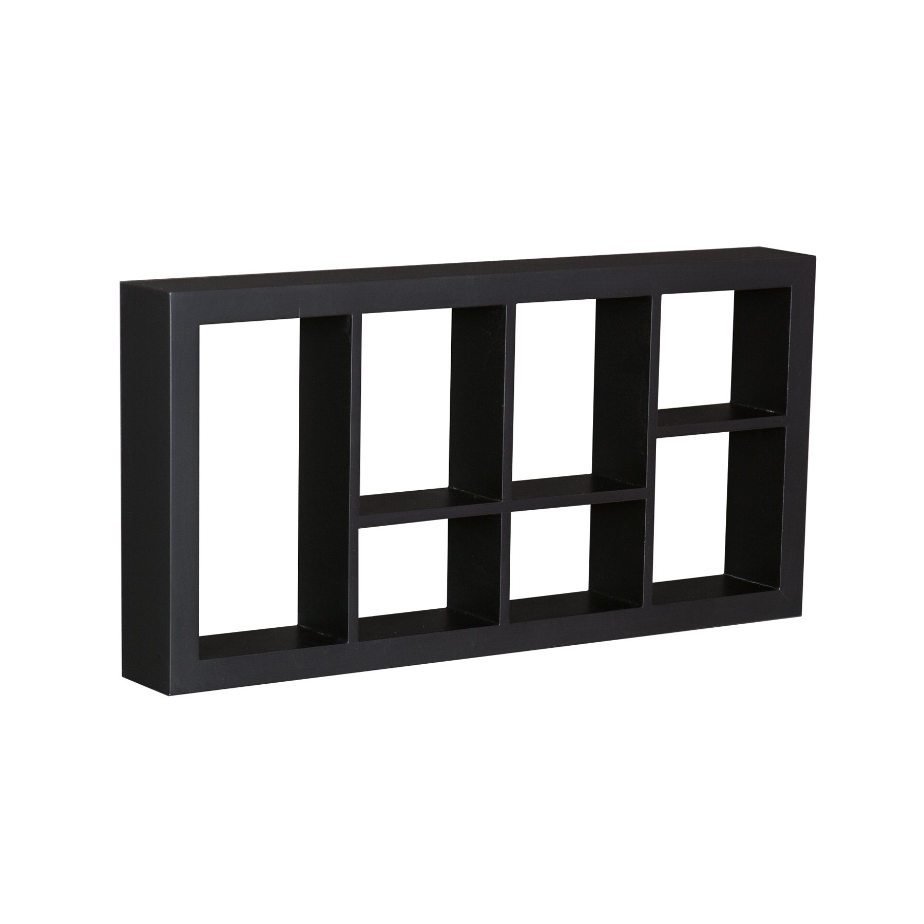 This Floating cube display shelf will provide an easy way to update any wall.  A traditional or contemporary setting to show off souvenirs, small treasures or art, this wall cube creates a dynamic arrangement in a living or dining room.