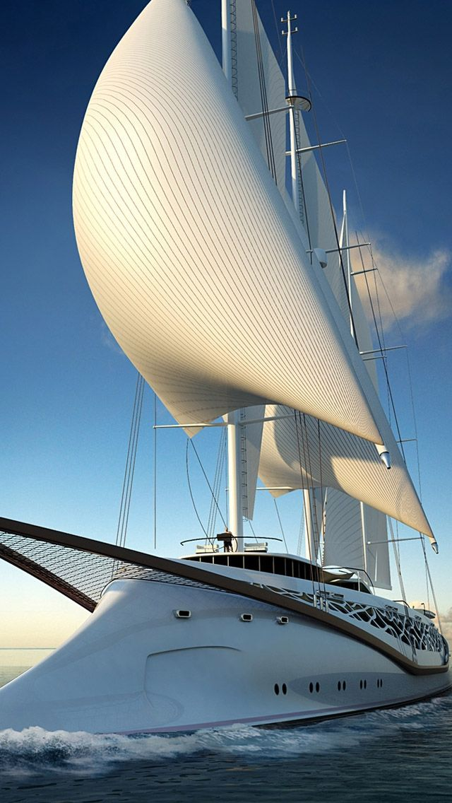 Luxury Yacht Iphone Wallpapers With Images Sailing Yacht Boat