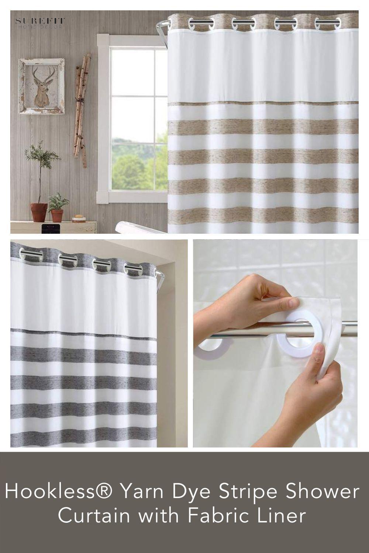 hookless yarn dye stripe shower