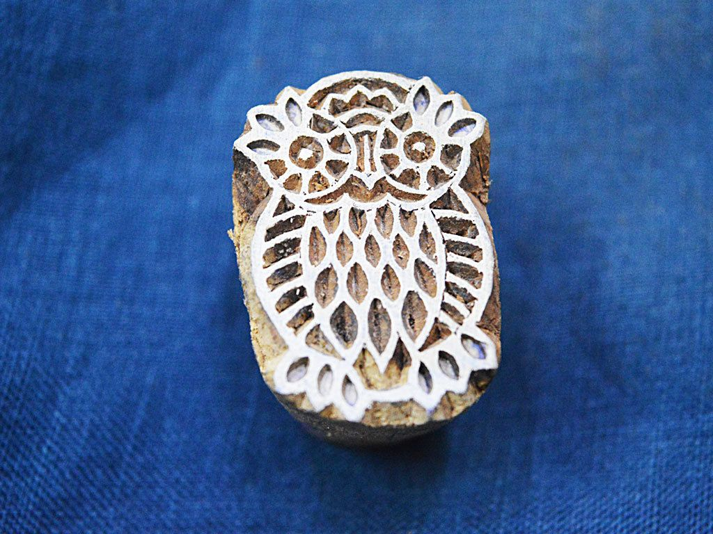 Small wood printing blocks Indian Wood Block Stamps hand crafted wooden stamps