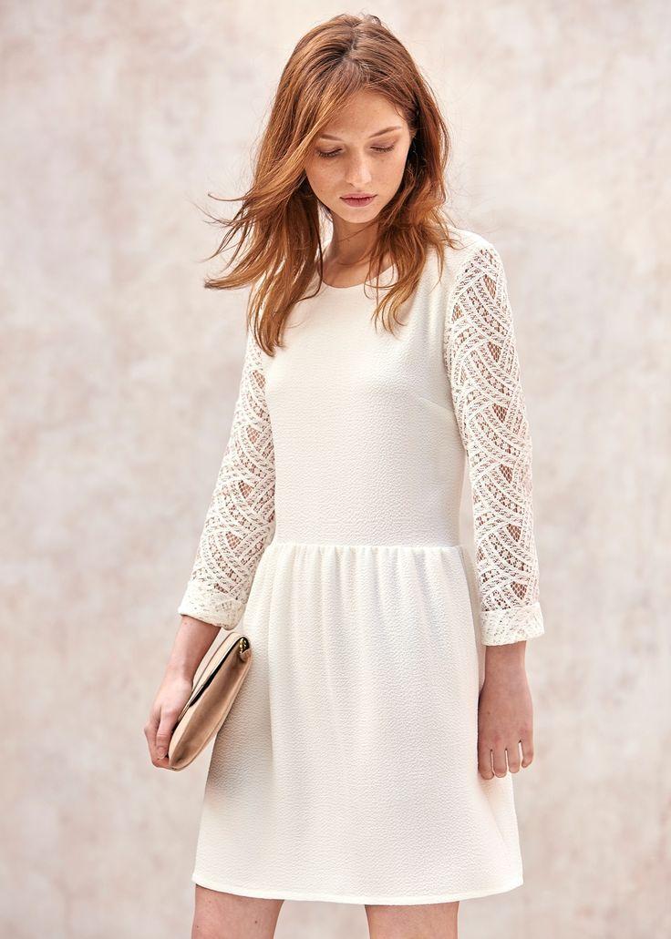 0552562c5da Une jolie robe courte blanche et sobre à porter pour votre mariage civil ou  le lendemain de la fête.