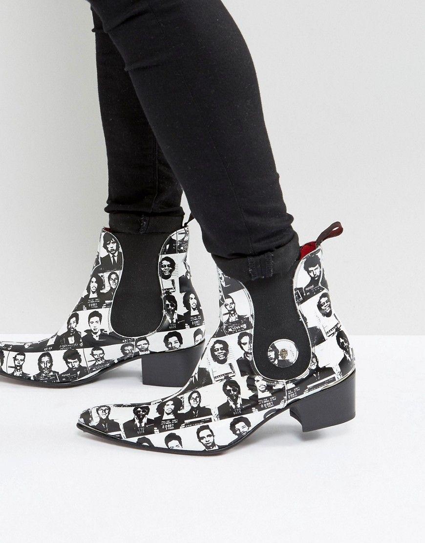 ee9725328cc19 Jeffery West Sylvian Mugshot Chelsea Boots In White - White Jeffery West  Sylvian Mugshot Chelsea Boots